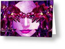 Black Orchid Eyes Greeting Card