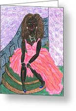 Black Peony Greeting Card