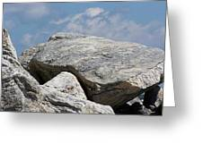 Black Point Rock Pile Greeting Card