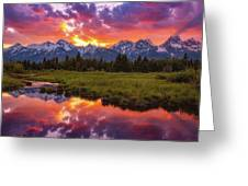 Black Ponds Sunset Greeting Card