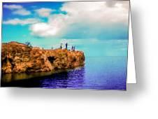 Black Rocks In Summer Greeting Card