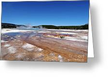 Black Sand Basin In Yellowstone National Park Greeting Card