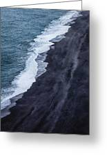 Black Sand Beach, Iceland Greeting Card