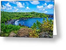Black Sand Beach - Maui Hi Greeting Card