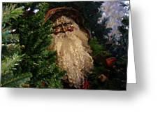 Black Santa Greeting Card