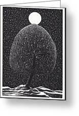 Black Shadow Tree Greeting Card