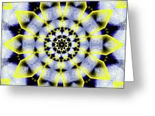 Black, White And Yellow Sunflower Greeting Card