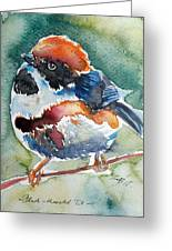 Black- Throated Tit Greeting Card