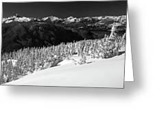 Black Tusk Mountain Scenery Greeting Card