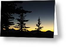 Black Tusk Sunset Greeting Card