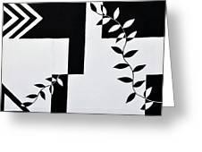 Black Vs White Again Greeting Card
