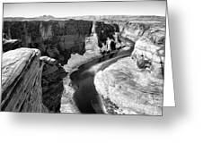 Black White Colorado River  Greeting Card