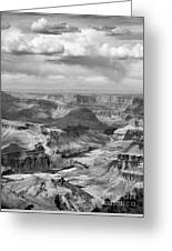 Black White Filter Grand Canyon  Greeting Card