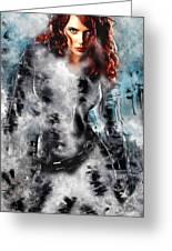 Black Widow Scarlett Johansson Greeting Card