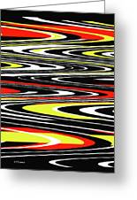 Black Yellow Red White Abstract Greeting Card
