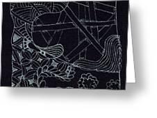 Black Zen 4 Greeting Card