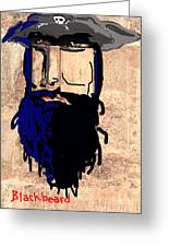 Blackbeard The Pirate Greeting Card