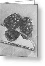 Blackberries On Glass Greeting Card