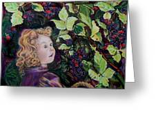 Blackberry Elf Greeting Card