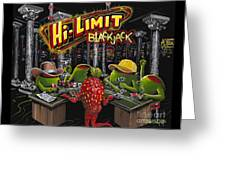 Blackjack Pimps Greeting Card
