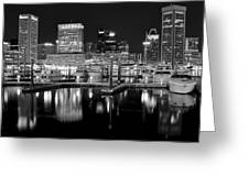 Blackness In The Harbor Greeting Card