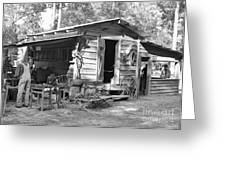 Blacksmith And Tool Shed Greeting Card