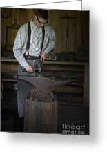 Blacksmith At Work Greeting Card