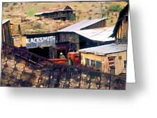 Blacksmith, Ghost Town, Jerome, Az. Greeting Card