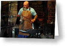 Blacksmith Greeting Card by Kim Michaels