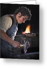 Blacksmith - Pioneer Village Greeting Card