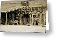 Blacksmith Shop 1867 Cove Creek Fort Utah Photograph In Sepia Greeting Card