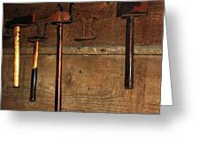 Blacksmith Tools Greeting Card