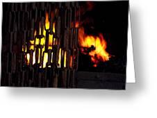 Blacksmiths Furnace Greeting Card