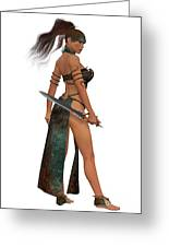 Blackthorn Woman Warrior Greeting Card