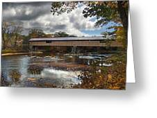 Blair Covered Bridge Greeting Card