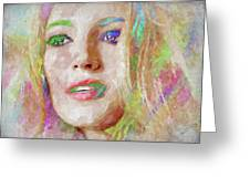 Blake Lively Watercolor Greeting Card