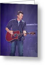 Blake Shelton Guitar 4 Greeting Card