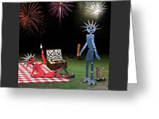 Blanche And Judy Celebrate The Fourth Greeting Card