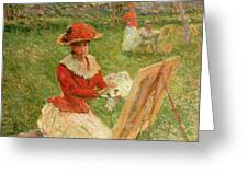Blanche Hoschede Painting Greeting Card