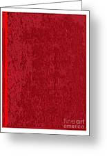 Blank Red Book Cover Greeting Card
