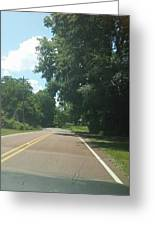 Blank Road Greeting Card
