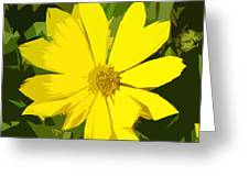 Blaze Of Yellow Greeting Card