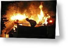 Blazing Fire Greeting Card