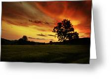 Blazing Skies Greeting Card