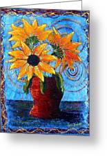 Blazing Sunflowers Greeting Card