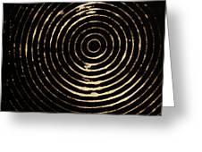 Bleached Circles Greeting Card
