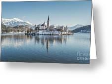 Bled Island Winter Dreams Greeting Card