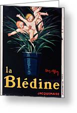 Bledine- Baby - Flower Pot - Old Poster - Vintage - Wall Art - Art Print - Porridge  Greeting Card