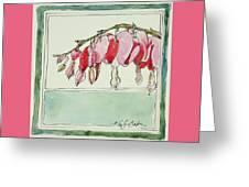 Bleeding Hearts II Greeting Card