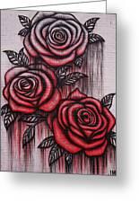 Bleeding Roses Greeting Card